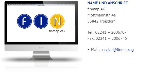 Kundenhomepage finmap AG Erstinformation